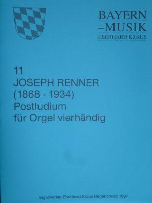 Josef Renner (1868 – 1934): Postludium für Orgel vierhändig