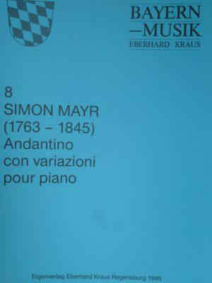 Simon Mayr (1763 – 1845): Andante con Variazioni für Klavier