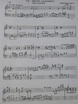 Eberhard Kraus: Zwei Stücke für Cembalo – Te Deum laudamus 2001 und Fantasia cromatica 1981
