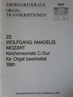 Wolfgang Amadeus Mozart: Kirchensonate C-Dur KV 336 für Orgel bearbeitet