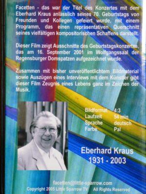 """DVD """"Facetten aus dem kompositorischen Schaffen von Eberhard Kraus"""""""