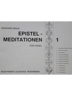 Eberhard Kraus: Epistelmeditationen Band 1 für Orgel