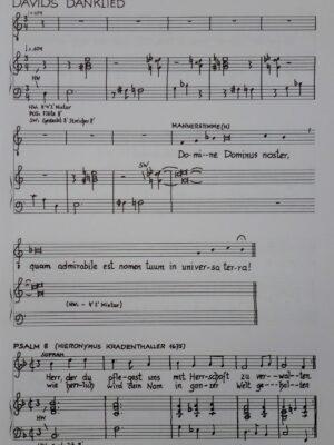 Eberhard Kraus: Davids-Psälterlein nach Hieronymus Kradenthallers Melodeyen für Sopran, Männerstimmen und Orgel 1987
